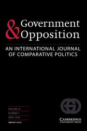 Government and Opposition Volume 55 - Issue 2 -
