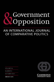 Government and Opposition Volume 56 - Issue 4 -