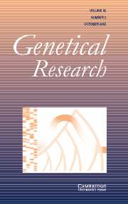 Genetics Research Volume 82 - Issue 2 -
