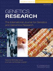 Genetics Research Volume 90 - Issue 5 -