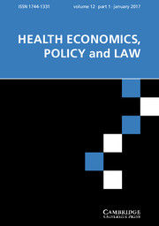 Health Economics, Policy and Law Volume 12 - Issue 1 -