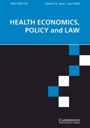 Health Economics, Policy and Law Volume 15 - Issue 2 -