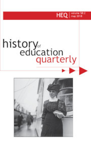 History of Education Quarterly Volume 58 - Issue 2 -