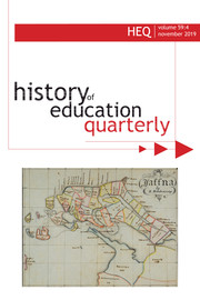 History of Education Quarterly Volume 59 - Issue 4 -