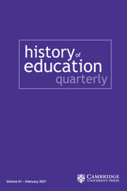 History of Education Quarterly Volume 61 - Special Issue1 -  African American Education