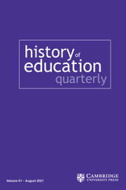 History of Education Quarterly Volume 61 - Issue 3 -