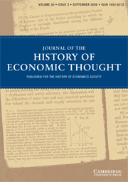 Journal of the History of Economic Thought Volume 30 - Issue 3 -