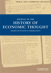 Journal of the History of Economic Thought Volume 30 - Issue 4 -