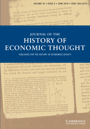 Journal of the History of Economic Thought Volume 32 - Issue 2 -