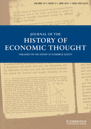 Journal of the History of Economic Thought Volume 33 - Issue 2 -