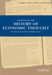 Journal of the History of Economic Thought Volume 34 - Issue 2 -
