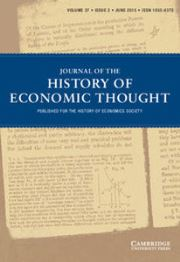Journal of the History of Economic Thought Volume 37 - Issue 2 -