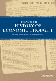 Journal of the History of Economic Thought Volume 42 - Issue 2 -