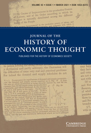 Journal of the History of Economic Thought Volume 43 - Issue 1 -