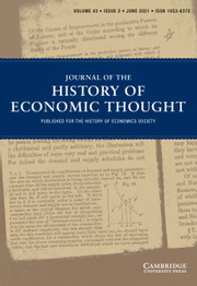 Journal of the History of Economic Thought Volume 43 - Issue 2 -