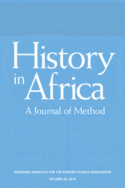 History in Africa Volume 43 - Issue  -