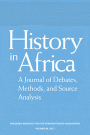 History in Africa Volume 44 - Issue  -