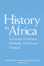 History in Africa Volume 45 - Issue  -
