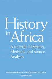 History in Africa Volume 47 - Issue  -