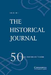 The Historical Journal Volume 50 - Issue 1 -