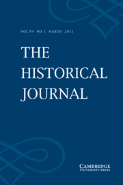 The Historical Journal Volume 54 - Issue 1 -
