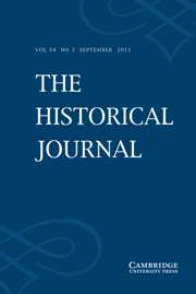 The Historical Journal Volume 54 - Issue 3 -