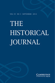 The Historical Journal Volume 55 - Issue 3 -