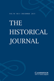The Historical Journal Volume 58 - Issue 4 -