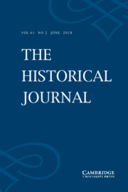 The Historical Journal Volume 61 - Issue 2 -