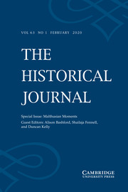 The Historical Journal Volume 63 - Special Issue1 -  Malthusian Moments