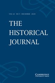 The Historical Journal Volume 63 - Issue 5 -