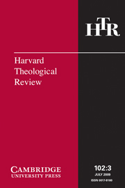 Harvard Theological Review Volume 102 - Issue 3 -
