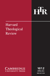 Harvard Theological Review Volume 107 - Issue 2 -