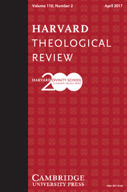 Harvard Theological Review Volume 110 - Issue 2 -
