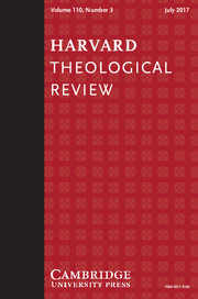 Harvard Theological Review Volume 110 - Issue 3 -
