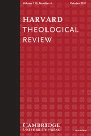 Harvard Theological Review Volume 110 - Issue 4 -