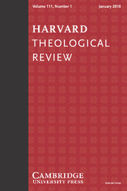 Harvard Theological Review Volume 111 - Issue 1 -
