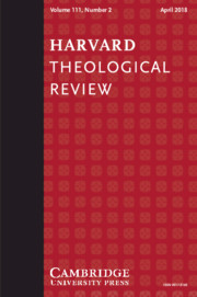 Harvard Theological Review Volume 111 - Issue 2 -