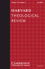 Harvard Theological Review Volume 111 - Issue 3 -