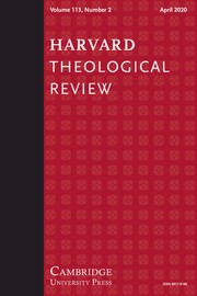 Harvard Theological Review Volume 113 - Issue 2 -