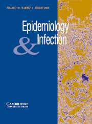 Epidemiology & Infection Volume 131 - Issue 1 -