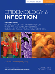 Epidemiology & Infection Volume 138 - Special Issue5 -  Epidemiology of MRSA with Emphasis on Veterinary and Community Settings