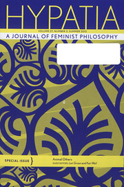 Hypatia Volume 27 - Issue 3 -  Special Issue: Animal Others