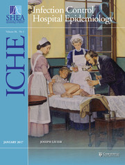 Infection Control & Hospital Epidemiology Volume 38 - Issue 1 -