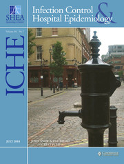 Infection Control & Hospital Epidemiology Volume 39 - Issue 7 -