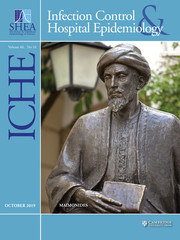Infection Control & Hospital Epidemiology Volume 40 - Issue 10 -