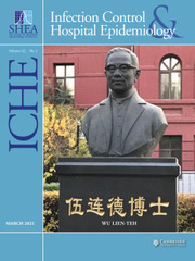 Infection Control & Hospital Epidemiology Volume 42 - Issue 3 -