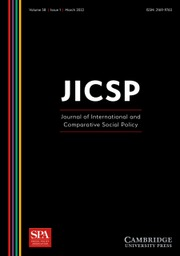 Journal of International and Comparative Social Policy