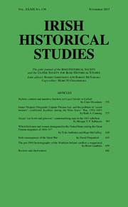 Irish Historical Studies Volume 39 - Issue 156 -