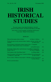 Irish Historical Studies Volume 40 - Issue 158 -